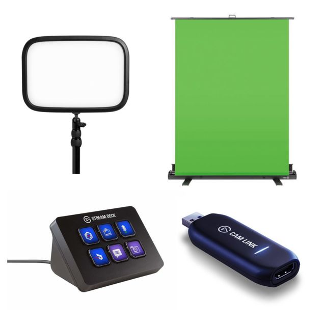 Key Light + Green Screen + stream deck mini + Cam Link 4K - HDMI