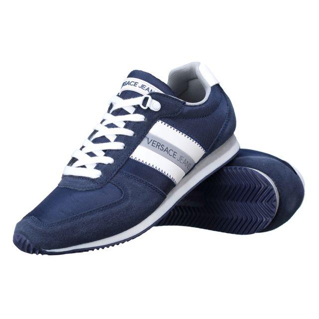 3d9681d3de4 Versace Jeans - Basket Eoypbsa3 239 Bleu - pas cher Achat   Vente ...