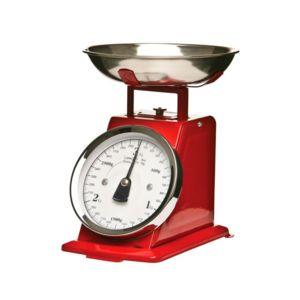 Secret de gourmet balance de cuisine m canique rouge 3kg - Balance de cuisine rouge ...