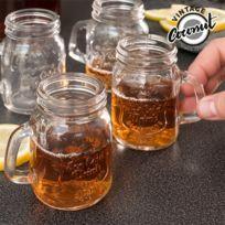 Marque Generique - Petites Carafes Vintage en verre pack de 4 Verre rétro confiture