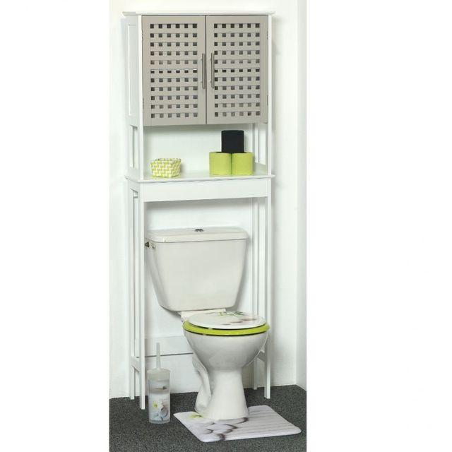 tendance meuble dessus wc 2 portes taupes collection. Black Bedroom Furniture Sets. Home Design Ideas