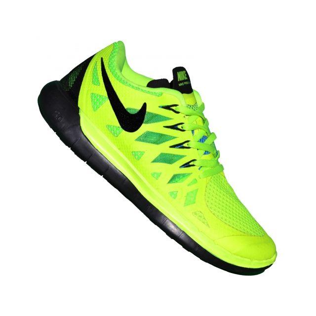 Nike - Basket Running - Free Run 5.0 - Jaune Fluo - pas cher ...