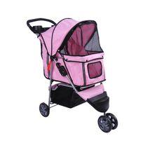 Bcelec - Poussette pour animaux à 3 roues, coloris rose