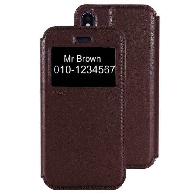 coque cuir carte iphone x