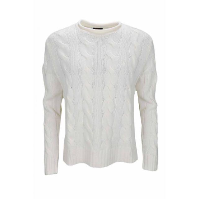 Ralph Lauren - Pull col rond torsadé blanc crème pour femme - pas cher  Achat   Vente Pulls femme - RueDuCommerce 3c44914cf29d