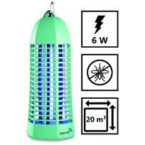 Plein Air - Lampe piege anti moustique Zap6 vert laqué - Décharge électrique 1000V - Champ action 20 m2