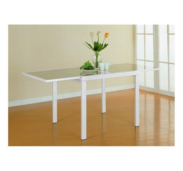 8b494765f7cb3d Chloe Design - Table carrée extensible Extend - Blanc - pas cher ...