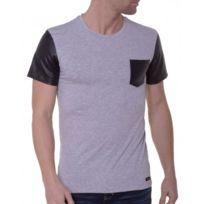 BLZ Jeans - T-shirt Homme Gris Manches Courtes