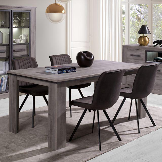 Nouvomeuble Table 180 cm coloris chêne clair Philippine