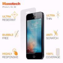 Autre - Verre trempé incurvé iPhone 5 5S Se Maxotech Film protection en verre trempé pour écran anti rayures facile à installer ultra résistant 9H bordless Glass Screen Protector