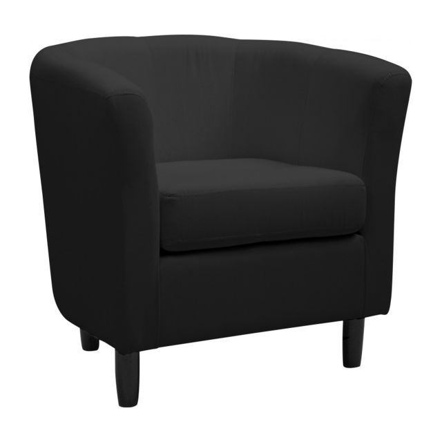 rocambolesk fauteuil cabriolet coton noir pas cher achat vente fauteuils rueducommerce. Black Bedroom Furniture Sets. Home Design Ideas