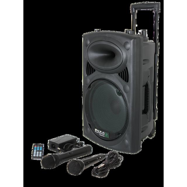Ibiza Sound Ibiza Port10UHF - Bt. Systeme portable autonome avec Usb/REC/VOX/BLUETOOTH et micro Uhf + filaire