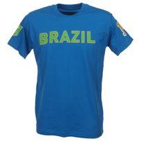 Culture Sud - Tee shirt manches courtes Fabio bleu brazil Bleu 75640