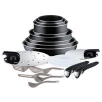 TEFAL - Set de poêles et casseroles Ingenio Essential - Noir - 20 pièces