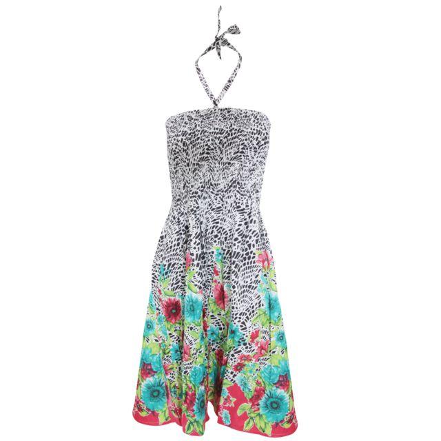 49383ad1440 Generic - Robe d été 3 en 1 à motifs tournesols - Femme (S