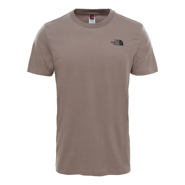 dc40b8e008038 ... The north face - Tee-shirt The North Face Simple Dome manches courtes  marron clair ...