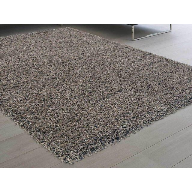 Dlm - Tapis shaggy poil long taupe 120x170cm Douceur - pas cher ... 756aa49f328e