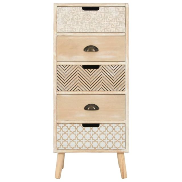 MARQUE GENERIQUE Icaverne - Commodes collection Commode à 5 tiroirs 40 x 35 x 95,5 cm