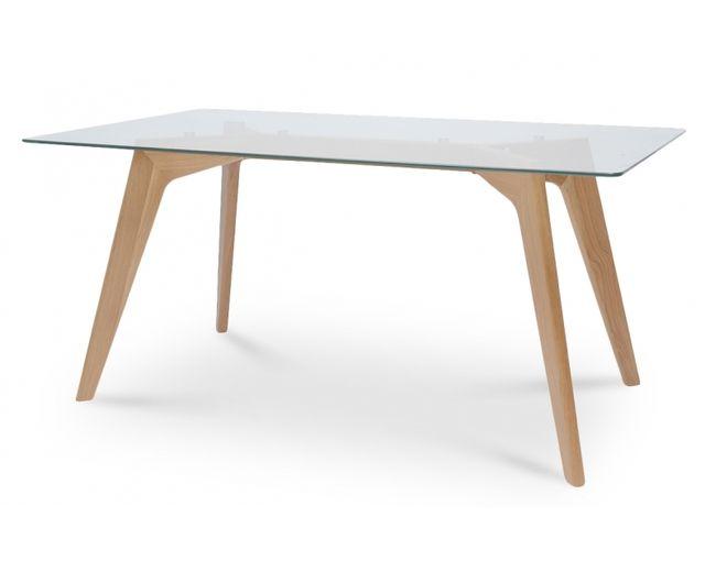 Coton Pastel Table à manger scandinave plateau verre
