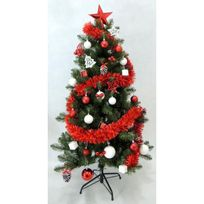 Finlandek - Salon - Finlandek Sapin 150 cm + Décoration de Noël 70 pieces
