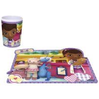 Toy Joy - Joy Toy 748998 748921 Disney Set Melaminbecher Doc Mcstuffins - 200 Ml 7 X 9 Cm, Set Lentikular 41 X 32 Cm