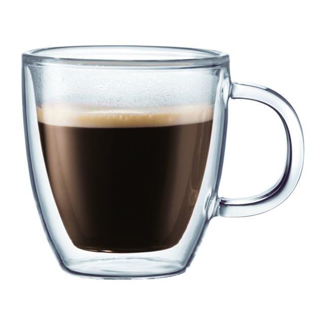 BODUM BISTRO Set 2 mugs à espresso, double paroi, avec anse, 0.15 L