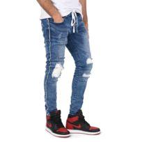 Project X - Jean skinny doublure biker et ceinture lacet Homme Paris,  Taille  36 58590f4276e