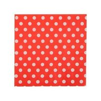 1001DECOTABLE - Serviette en papier rouges à pois en papier