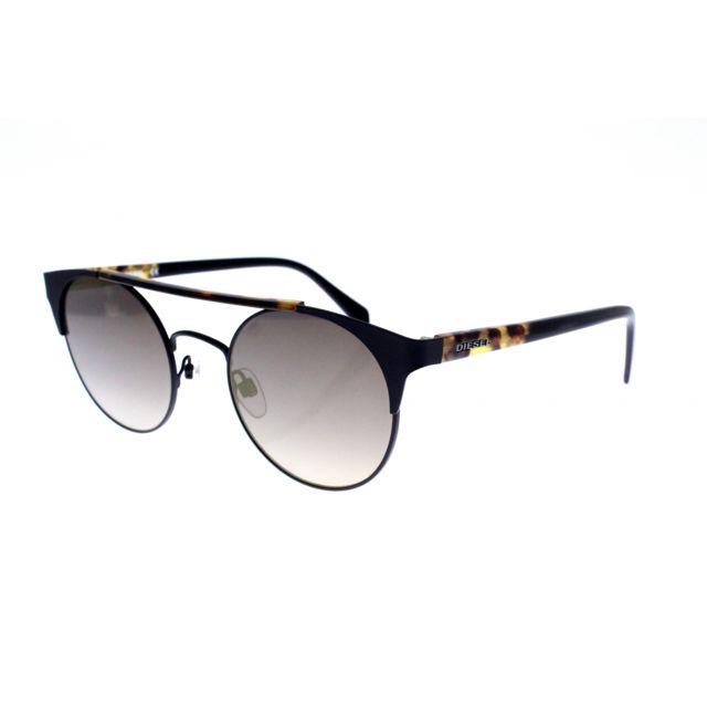 Diesel - Dl 0218 05G - Lunettes de soleil mixte Noir - pas cher Achat    Vente Lunettes Tendance - RueDuCommerce 911ec886c54e