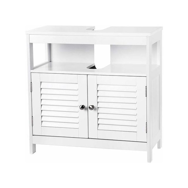 vasagle meuble sous lavabo armoire de rangement meuble. Black Bedroom Furniture Sets. Home Design Ideas
