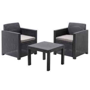 ALLIBERT - Salon de jardin bas ALLEGRO - 1 table + 2 fauteuils ...
