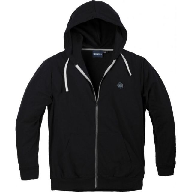 Allsize Sweat cardigan zippé north noir