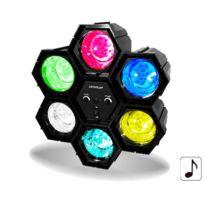 Fiesta - Jeu de lumière chenillard 6 couleurs Leds Djled600
