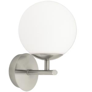 eglo applique globe salle de bain palermo ip44 h20 cm nickel gris - Applique De Salle De Bain Globe