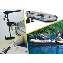 INTEX - Kit bateau 3 places + moteur