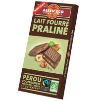 Alter Eco - Chocolat Lait Fourre Praline Bio 85g