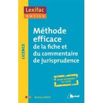 Breal - Méthode efficace de la fiche et du commentaire de jurisprudence