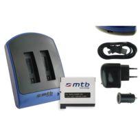 mtb more energy® - Double Chargeur USB/Auto/Secteur, + Batterie Ahdbt-401 pour GoPro Hero4 Black, Silver, Surf & Music Edition