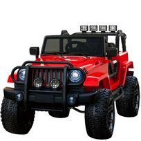 Voiture Electrique - Grand 4x4 voiture électrique pour enfant 24 volts rouge luxe pneus gomme Eva