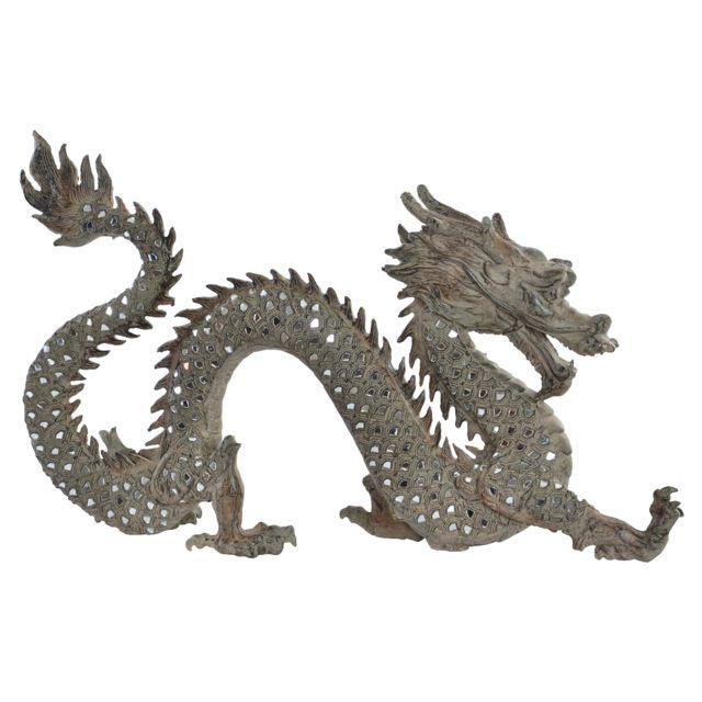 Items France Grande Statue Dragon aspect vieilli 52 cm