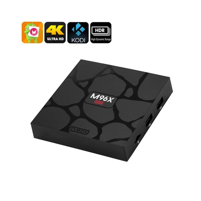 Auto-hightech Smart box tv android 6 4K, Cpu Quad-Core, 1 Go de Ram, Télécommande WiFi, Google Play, Kodi