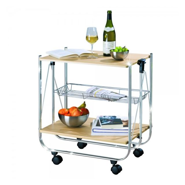 Table roulante pliable table desserte roulante pliable - Desserte de table roulante ...