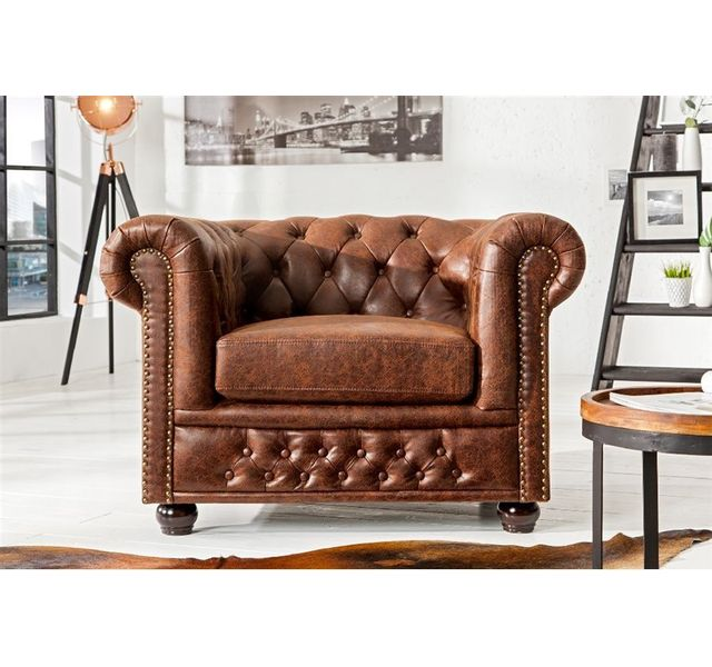 CHLOE DESIGN FAUTEUIL DESIGN CHESTERY - Marron