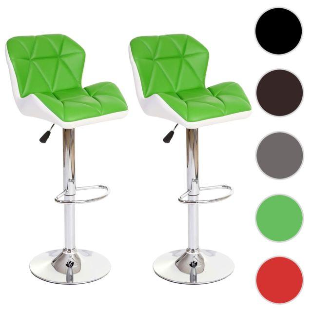 Mendler - 2x tabouret de bar Hamilton, chaise de comptoir, bois ... d7e02e4622c8