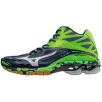 Mizuno - Chaussures montantes Wave Lightning Z2 bleu/vert/blanc