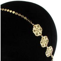 Les Dissonances - Sunshine : headband élastic Rosaces Doré à l'or fin
