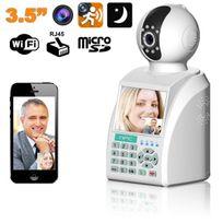 Yonis - Téléphone visiophone caméra Ip alarme enregistreur 3.5 pouces 4 en 1
