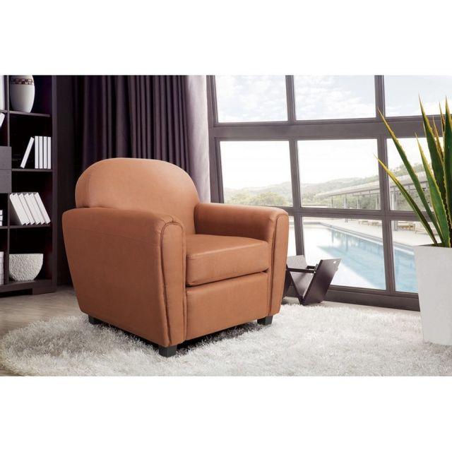 beaux meubles pas chers fauteuil club vintage marron pas cher achat vente fauteuils. Black Bedroom Furniture Sets. Home Design Ideas