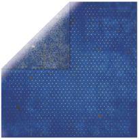 Bobunny - Papier scrapbooking Vintage saphir 30,5cm
