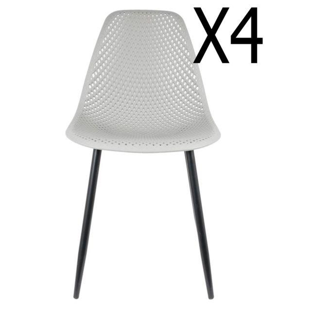47 chaises cm Dim54 Lot de coloris 84 x Gris x 4 sCxtQhrd